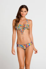 SAMBA CARACOL - Tassels Bandeau Top & Full Ruched Back Bottom • Multicolor