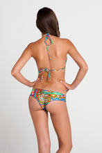SAMBA CARACOL - Molded Push Up Bandeau Halter Top & Wavey Ruched Back Brazilian Bottom • Multicolor