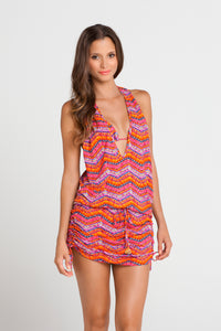 RON Y PARAISO - T Back Mini Dress • Multicolor