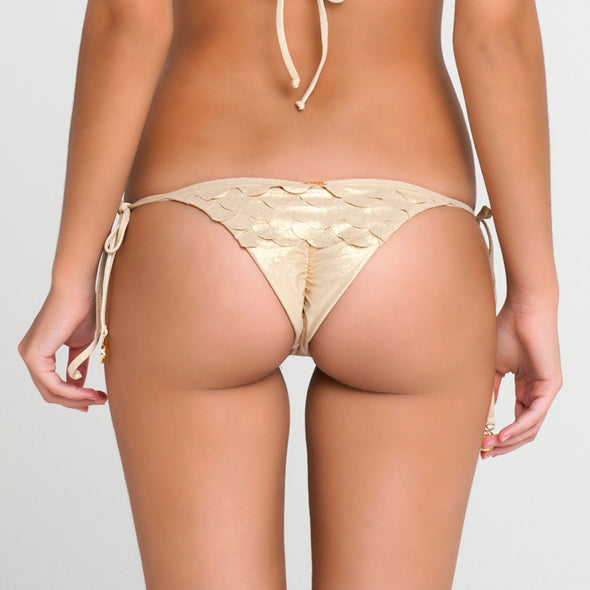 SI SOY SIRENA - Scalloped Back Brazilian Tie Side Bottom
