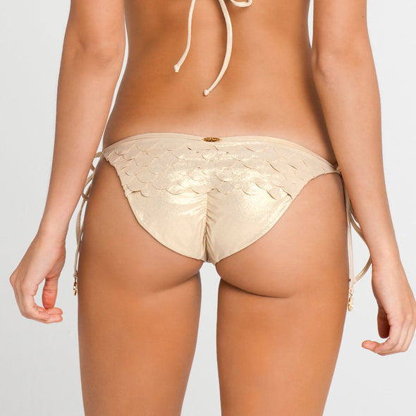 SI SOY SIRENA - Scalloped Back Tie Side Ruched Full Bottom