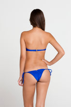 SI SOY SIRENA - Scalloped Underwire Push Up Bandeau Top & Scalloped Back Brazilian Tie Side Bottom • Electric Blue