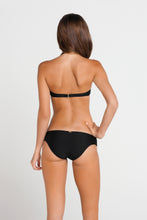 SI SOY SIRENA - Scalloped Underwire Push Up Bandeau Top & Scalloped Full Bottom • Black