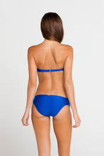 SI SOY SIRENA - Scalloped Underwire Push Up Bandeau Top & Scalloped Full Bottom • Electric Blue