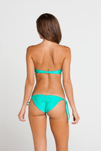 SI SOY SIRENA - Scalloped Underwire Push Up Bandeau Top & Scalloped Back Tie Side Ruched Full Bottom • Sexy Siren