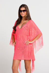 FLIRTY FRINGE - Flirty Caftan Fringe Dress • Hot Mess