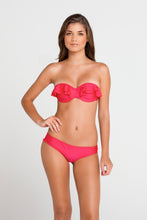 BON BON CHA CHA - Underwire Push Up Bandeau & Sassy Cheeks Bottom • Bombshell Red