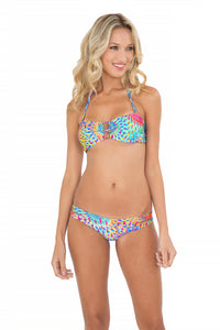 BAJO UN MISMO SOL - Zig Zag Open Center Bandeau Top & Zig Zag Open Side Moderate Bottom • Multicolor
