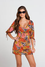 "DANCING IN PARADISE - ""baby Baby"" Split Sleeve Dress • Multicolor"