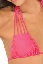 VERANO DE RUMBA - Multi Strings Triangle Top & Strappy Brazilian Ruched Back Bottom • Bombshell Red