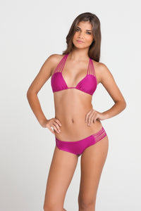 VERANO DE RUMBA - Multi Strings Triangle Top & Bootylicious Minimal Coverage Bottom • Dancing Orchid (874495901740)