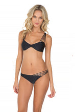 VERANO DE RUMBA - Multi Cross Strap Bra Top & Strappy Front Side Moderate Bottom • Black