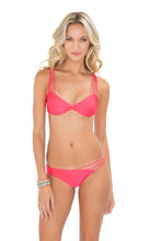 VERANO DE RUMBA - Multi Cross Strap Bra Top & Strappy Front Side Moderate Bottom • Bombshell Red