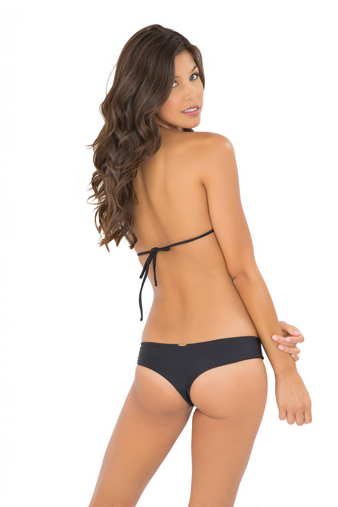 VERANO DE RUMBA - Strappy Cut Out Triangle Top & Strappy Cut Out Tiny Bottom • Black