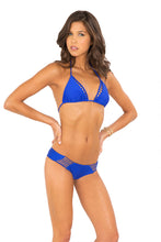 VERANO DE RUMBA - Strappy Cut Out Triangle Top & Strappy Cut Out Tiny Bottom • Electric Blue