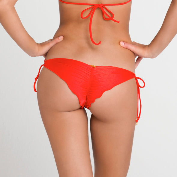 RITMO DE MI SALSA - Wavey Ruched Back Brazilian Tie Side Bottom