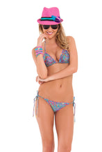 AGUA DULCE - Wavey Triangle Top & Wavey Ruched Back Brazilian Tie Side Bottom • Multicolor