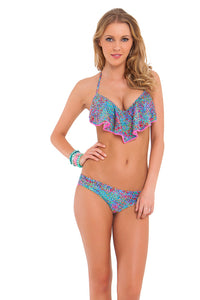 AGUA DULCE - Cascade Push Up Underwire Top & Sassy Cheeks Bottom • Multicolor