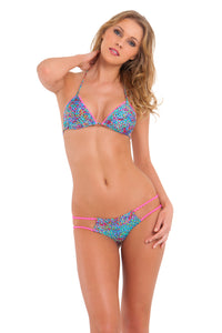 AGUA DULCE - Pom Pom Triangle Top & Tiny Bottom • Multicolor