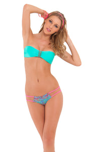 VERANO DE RUMBA - Multi Strings Bandeau Top & Tiny Bottom • Sexy Siren