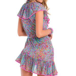 AGUA DULCE - Unwrap Me Mini Dress