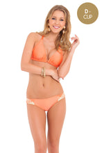 COSITA BUENA - Halter Triangle Top & Intertwine Full Bottoms • Beachy Coral
