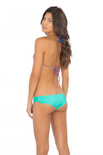 AMANECER - Wavey Triangle Top & Scalloped Back Minimal Coverage Bottom • Sexy Siren