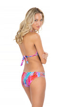 AMANECER - Triangle Halter Top & Multi Strings Full Bottom • Multicolor