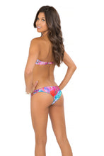 AMANECER - Underwire Push Up Bandeau Top & Strappy Brazilian Ruched Back Bottom • Multicolor