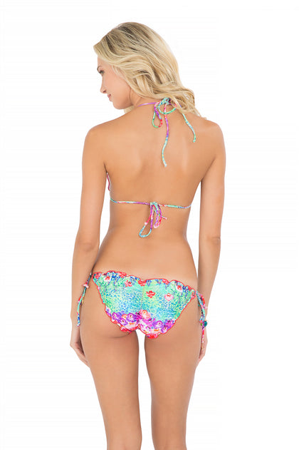 PEQUEÑO PARAISO - Wavey Triangle Top & Wavey Ruched Back Full Tie Side Bottom • Multicolor