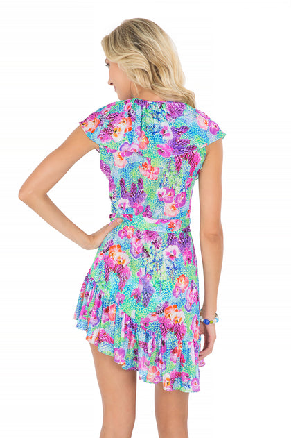 PEQUEÑO PARAISO - Unwrap Me Mini Dress • Multicolor