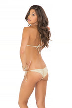 DIAMANTES DE CORAL - Triangle Top & Wavey Ruched Back Brazilian Tie Side Bottom • Beachy Coral