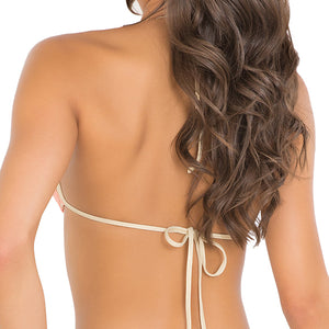 DIAMANTES DE CORAL - Molded Push Up Bandeau Halter Top