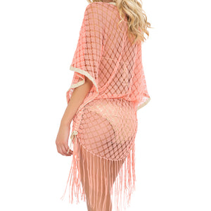 DIAMANTES DE CORAL - South Beach Fringe Dress