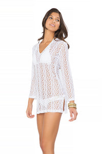 AMOR MARINERO - Plunge Dress • White (865204305964)