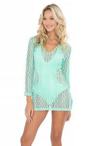 AMOR MARINERO - Plunge Dress • Mint Convertible