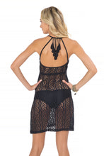 AMOR MARINERO - Tassel Back Mini Dress • Black
