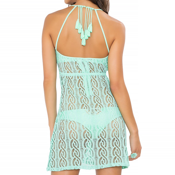 AMOR MARINERO - Tassel Back Mini Dress