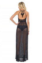 AMOR MARINERO - Tassel Back Maxi Dress • Black