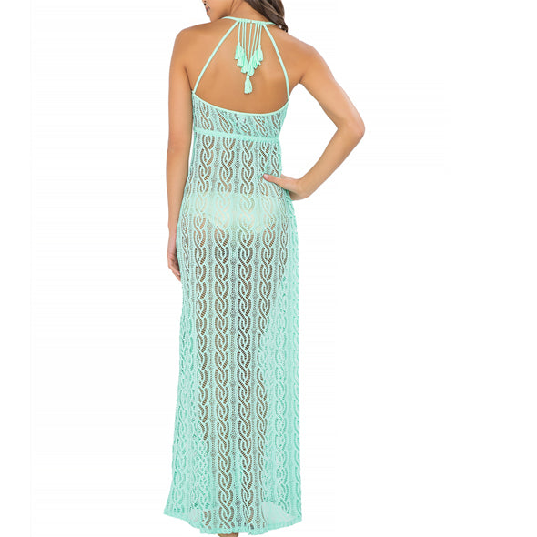 AMOR MARINERO - Tassel Back Maxi Dress (843364270124)