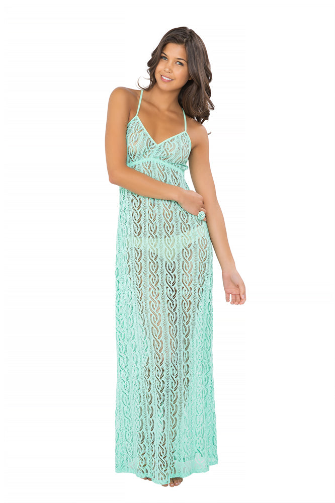 AMOR MARINERO - Tassel Back Maxi Dress • Mint Convertible (865206730796)