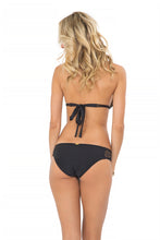 MIAMI NIGHTS - Triangle Halter Top & Full Bottom • Black