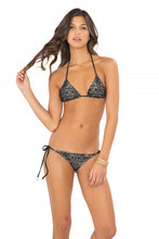 MIAMI NIGHTS - Triangle Top & Wavey Ruched Back Brazilian Tie Side Bottom • Black