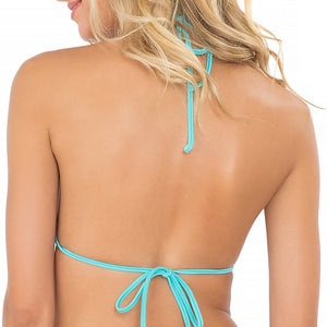 MIAMI NIGHTS - Molded Push Up Bandeau Halter Top (843371020332)