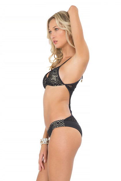 "MIAMI NIGHTS - ""take Me Back"" Crochet One Piece • Black"