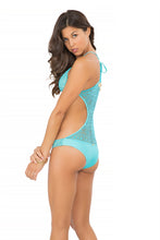 "MIAMI NIGHTS - ""take Me Back"" Crochet One Piece • Aruba Blue"