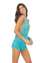 MIAMI NIGHTS - T Back Romper • Aruba Blue