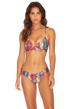 SINFUL - Underwire Top & Drawstring Ruched  Bottom • Multicolor