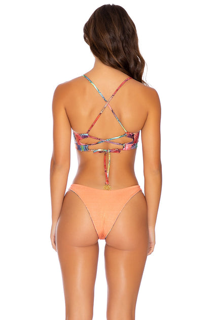 SINFUL - Underwire Top & High Leg Bottom • Multicolor Runway