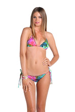 SEA SALT ANGEL - Wavey Triangle Top & Wavey Ruched Back Brazilian Tie Side Bottom • Multicolor